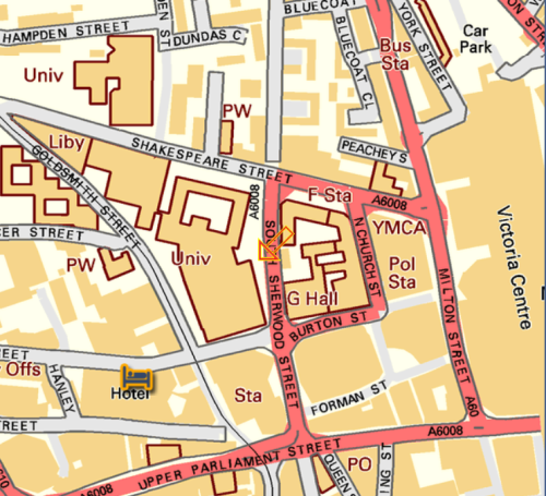 map of south shwood st