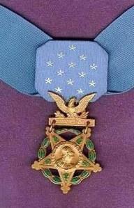 left hand medal