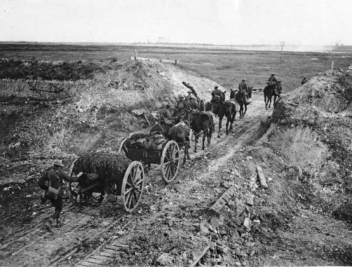 NLS_Haig_-_Artillery_going_through_a_cutting_in_the_Canal_du_Nord
