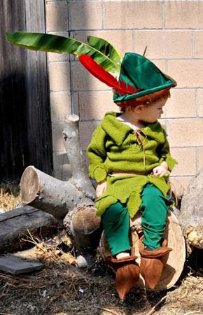 A-Little-Boy-Wearing-A-Green-Robin-Hood-Costume