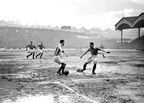 (L-R) Huddersfield Town's Alf Whittingham takes on Charlton Athletic's Jock Campbell
